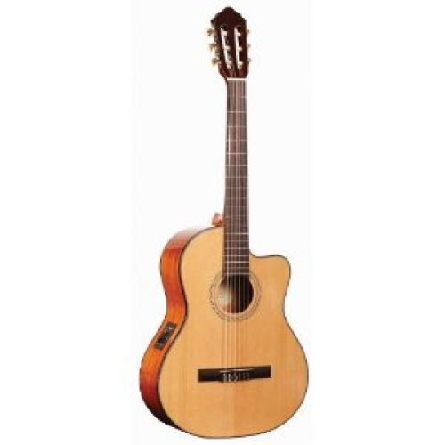 Alvarez Regent Series RD16HCE Classical Hybrid Acoustic - Electric with cutaway, Natural / Gloss finish, 45MM nut