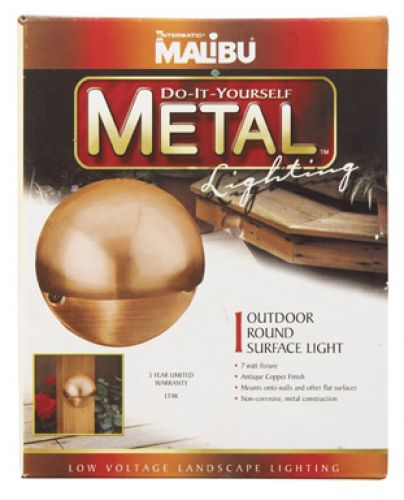"""Malibu"" Metal Surface Light"