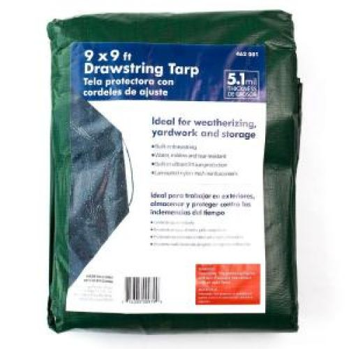 9 ft. x 9 ft. Drawstring Tarp