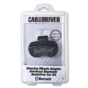 Car and Driver CD-700 Universal Steering Wheel Bluetooth Car Kit with Caller ID and Echo and Noise Suppression (Black)