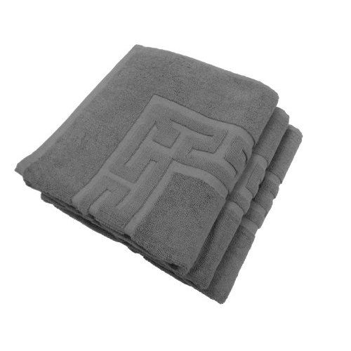 100-Percent Cotton Terry 3-Piece 22 by 32 Bath Mat, Grey