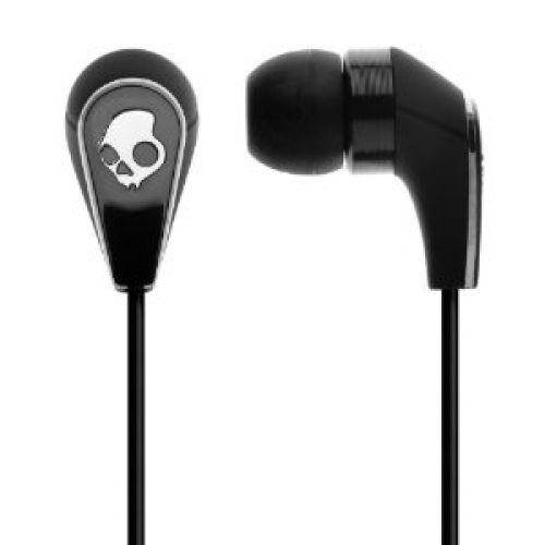 Skullcandy 50/50 In Ear Bud with In-Line Microphone and Control Switch/Volume S2FFCM-003 (Black)