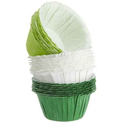Wilton Assorted Green Ruffled Baking Cups, 24 Count
