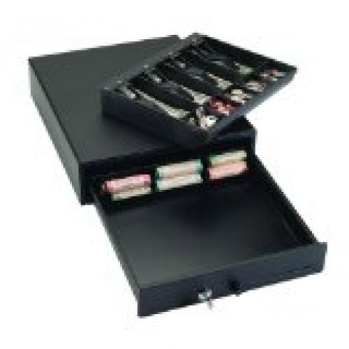 1046 Compact Steel Cash Drawer with Disc Tumbler Lock,Touch Button Release