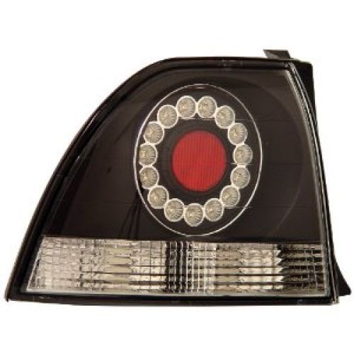 Anzo USA 321031 Honda Accord Black LED Tail Light Assembly - (Sold in Pairs)