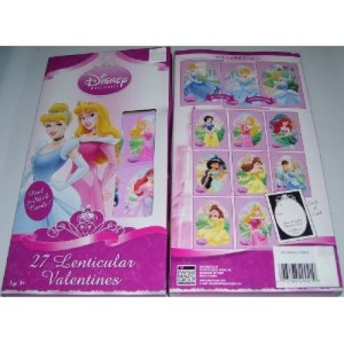Disney Princess 27 Lenticular Valentines Cards With 9 Beautiful Designs!