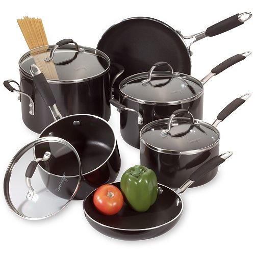 Cooking with Calphalon 10-pc. Enamel Cookware Set