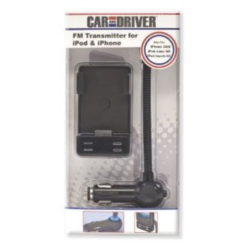 Car and Driver CD-1000 3 in 1 Goosneck Docking FM Transmitter for iPod/iPhone