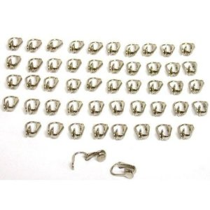 48 White Gold Plated Clip On Earrings Jewelry Findings