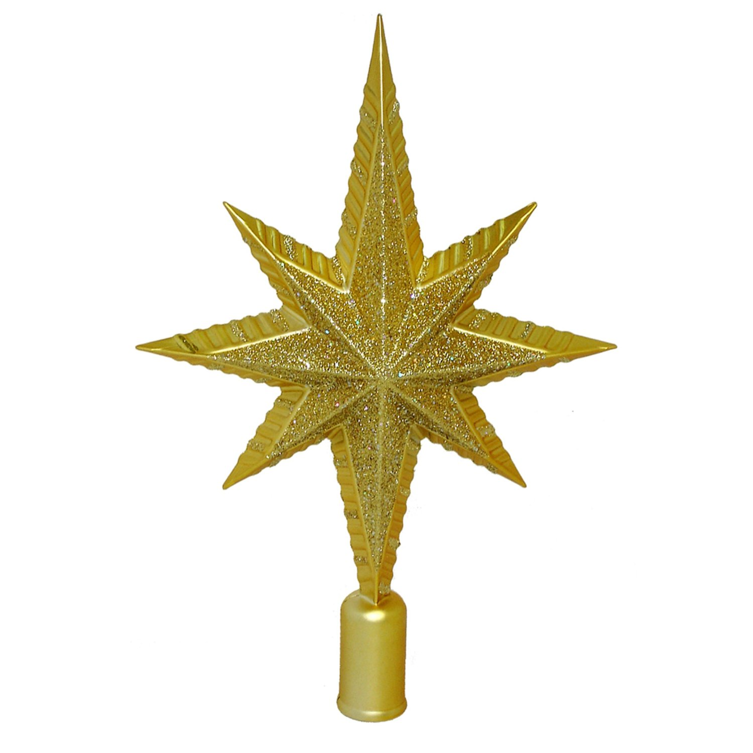 Barcana 12-Inch Shatterproof Gold Northern Star Christmas Tree Topper