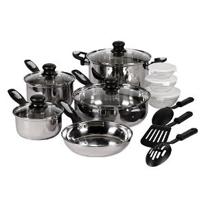Everyday Kitchen 15-pc. Stainless Steel Cookware Set