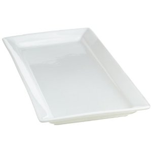 10 Strawberry Street Whittier 7-Inch by 15-Inch Rectangular Platter, White