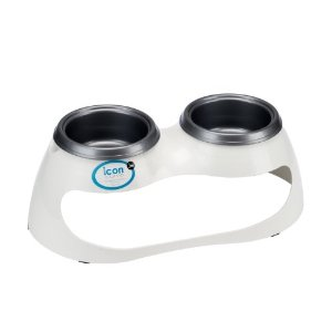 JW Pet Company icon Curve Elevated Feeder Dog Bowl, Medium/Large (Colors Vary)