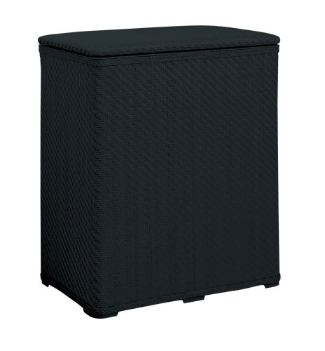 Allure Home Creations Easy To Set Up KD Wicker Hamper, Black