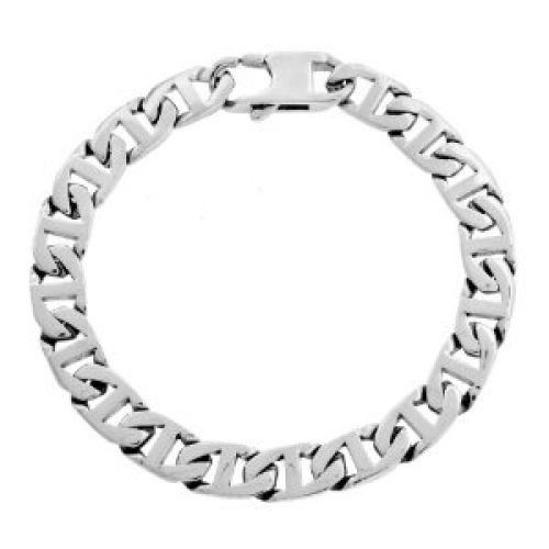 Men's Stainless Steel Marine Link Bracelet, 9""
