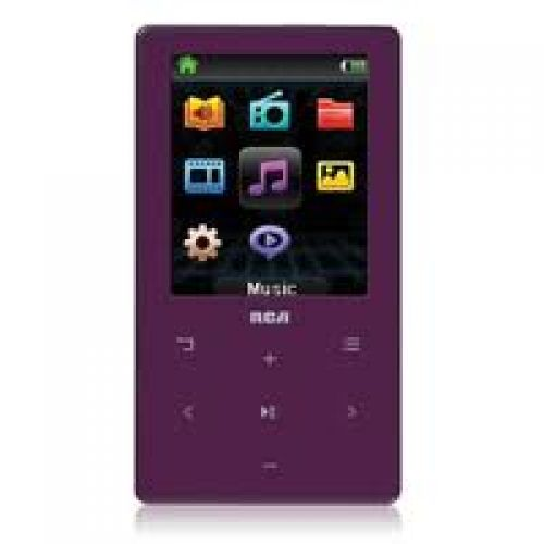 RCA M6408PL 8GB MP3 and Video Player (Purple)