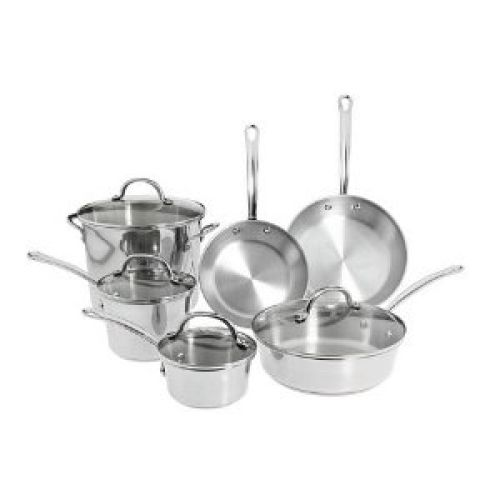 Farberware Millennium Tulip Shaped 10-Piece Set, Stainless